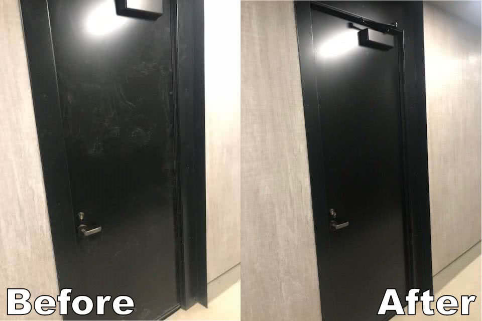 Borden Park Doors Before After Cleaning