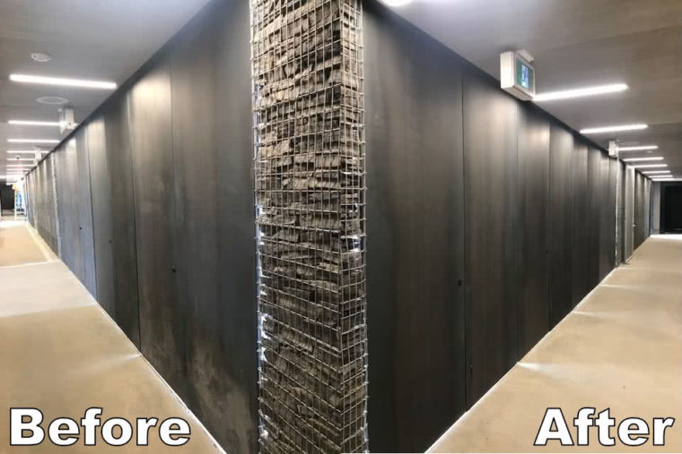 Borden Park Walls Before After Cleaning
