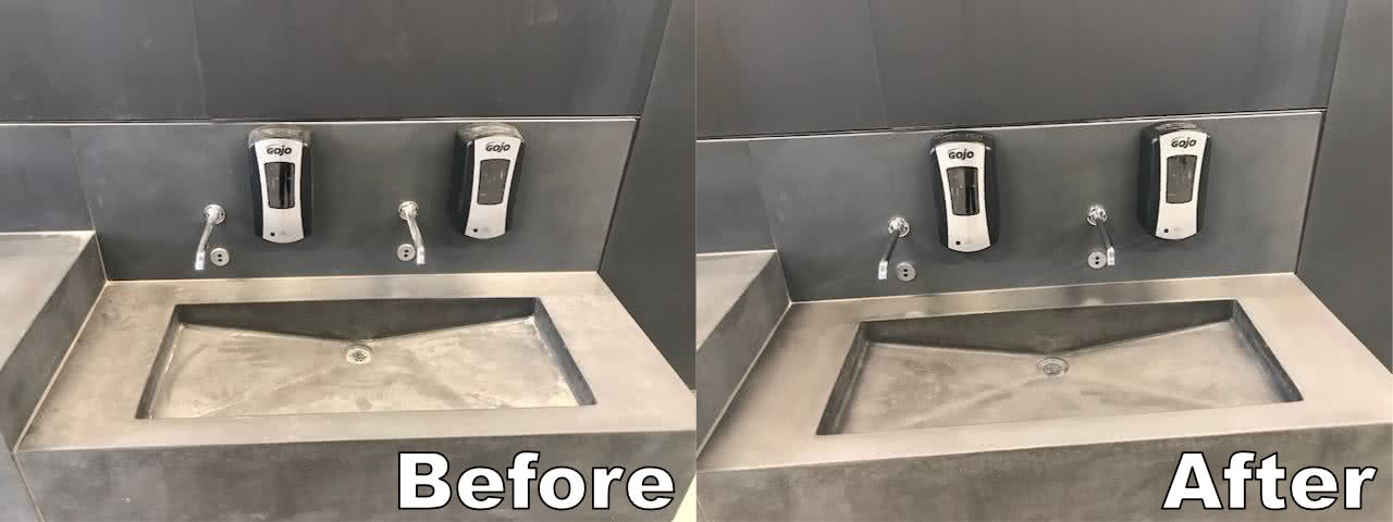 Natural Pool Sinks Before After Cleaning