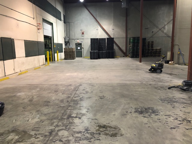 Warehouse Cleaning with Scrubber Machine