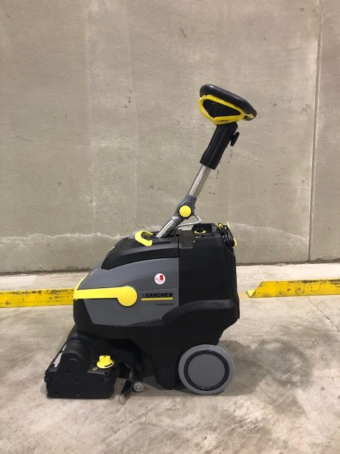 Warehouse Cleaning with New Machine