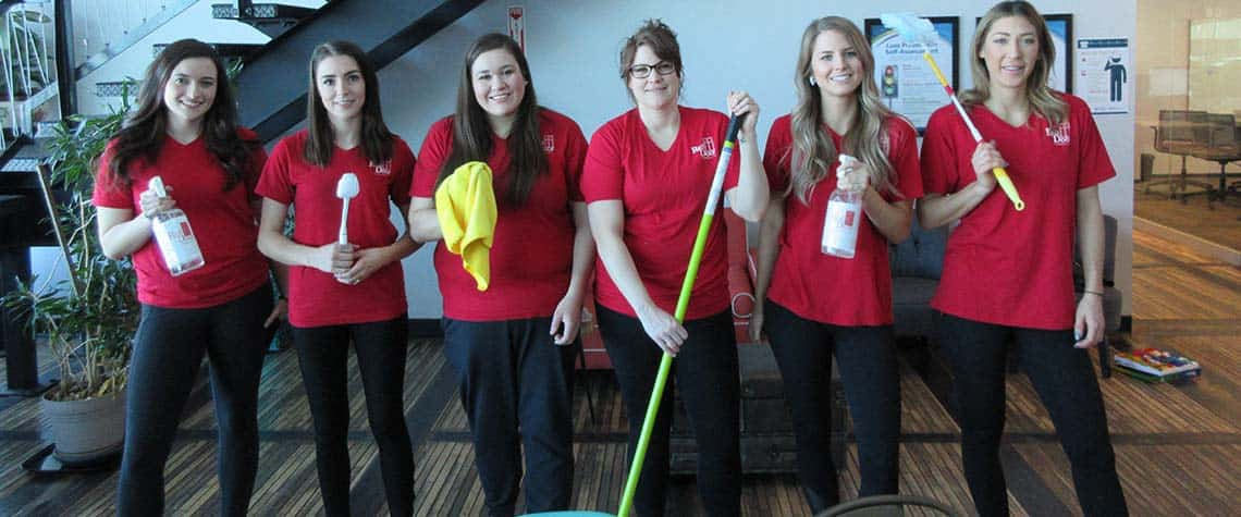 commercial janitorial services provided by Red Door Cleaning